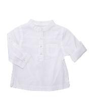 Afbeelding Katoenvoile overhemd met een kraag in