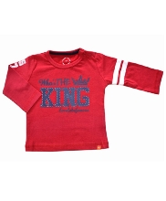 Afbeelding Born To Be Famous LS Shirt Red BBW49