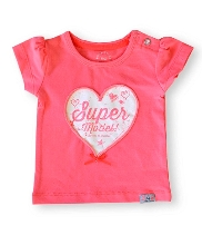 Afbeelding Born To Be Famous SS T-Shirt Neon Coral BGS50